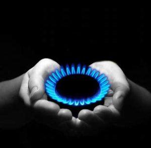 A propane flame