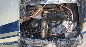 Burned out electrical unit