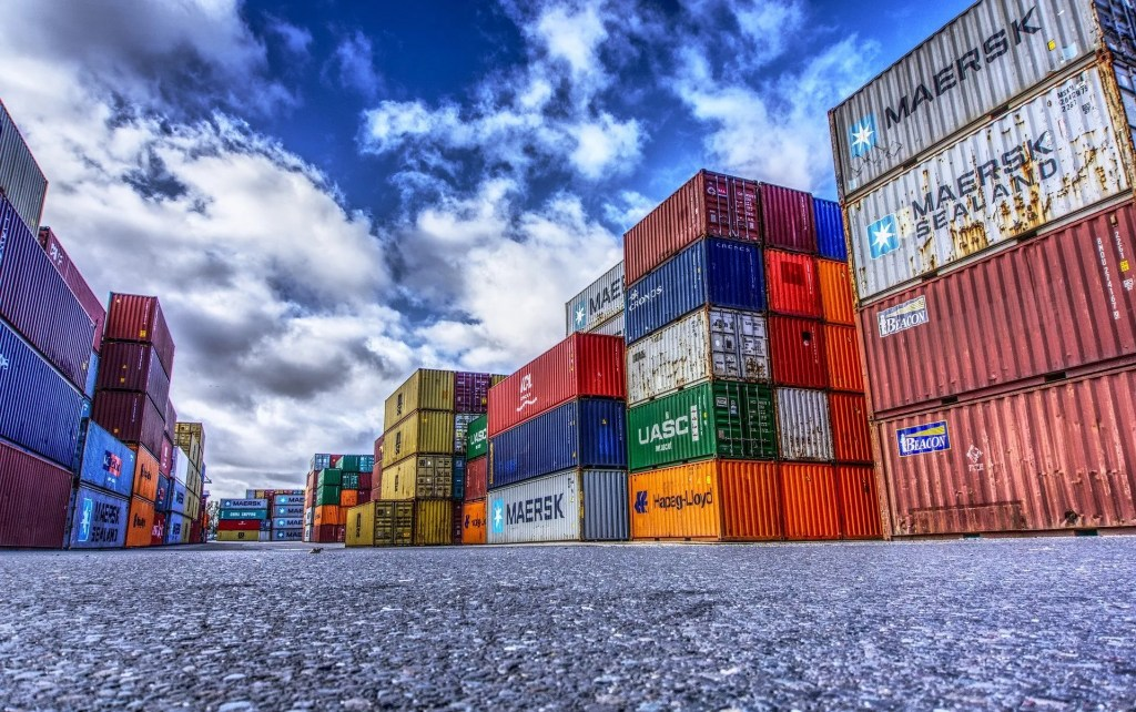 Containers ready for export