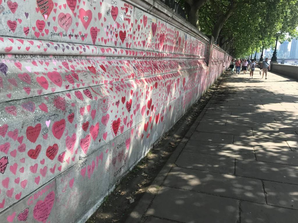 Covid memorial wall