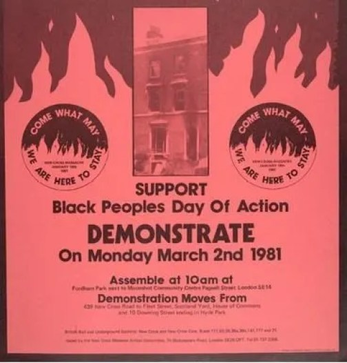 Poster for Black People s Day of Action 1981