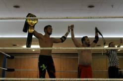 Winning the NCW Tag Team Championship with Mike Paiva at WrestleFest IX