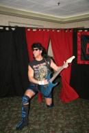 """""""The Hard Rock Hellraiser"""" Todd Sople rocks out for the Norwood fans."""