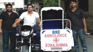 Man builds motorbike ambulance to aid rural population