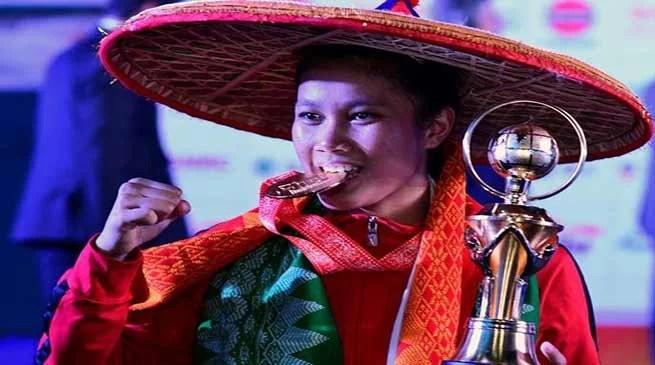 BIG BREAKING- Ankushita Boro wins Gold in 64 kn Category