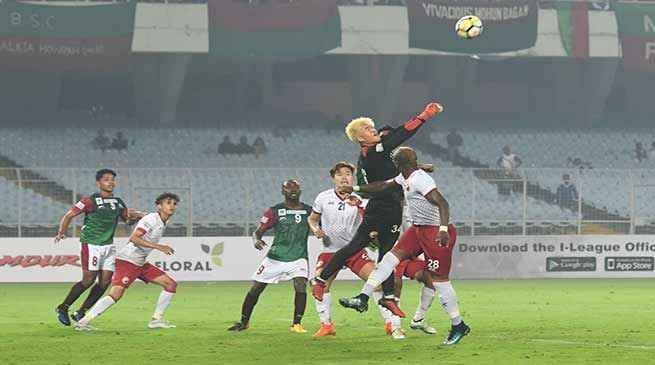 I-League ; Mohun Bagan and Shillong Lajong plays a 1-1 draw