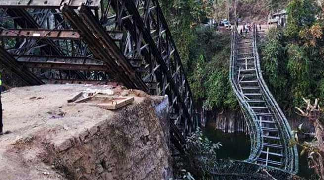 Mizoram: 1 dies as Bailey Bridge Collapses over river Tuirini