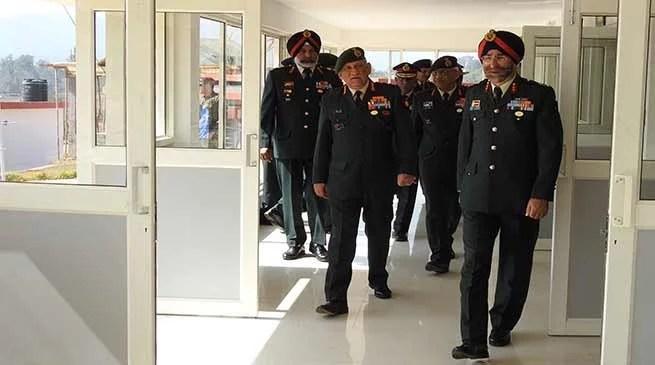 Meghalaya: Army Chief Genral Bipin Rawat visits Umroi Station