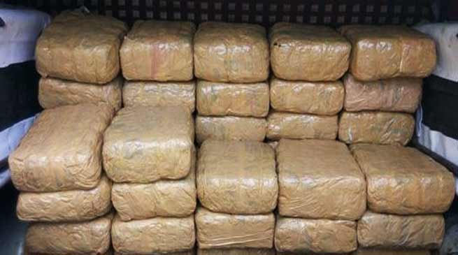 Assam: DRI seizes 763 Kg ganja worth of Rs 38 lakh
