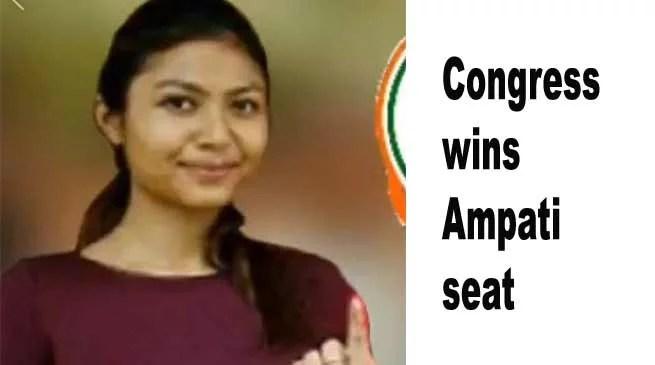 Meghalaya : Congress wins Ampati seat