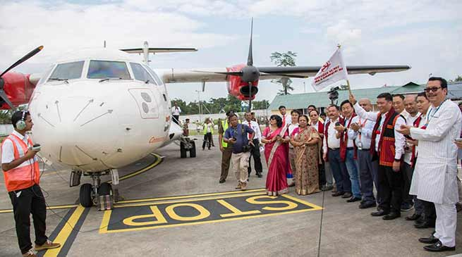 Arunachal: Alliance air starts commercial flight from Pasighat
