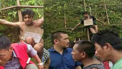 Photo of Nagaland: Alleged rapist beaten up, paraded naked in Mon town