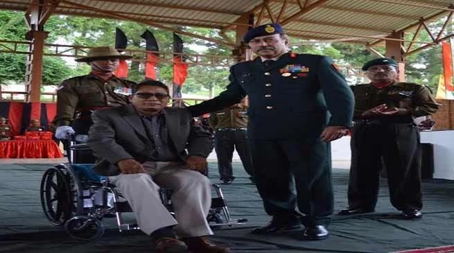 Meghalaya: Veer Naris, War Veterans felicitated inMega Ex Servicemen Rally
