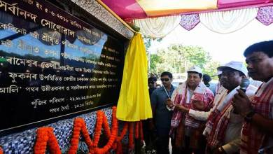 Photo of Assam: Sonowal Lays foundation stone of Tingrai-Doomdooma road