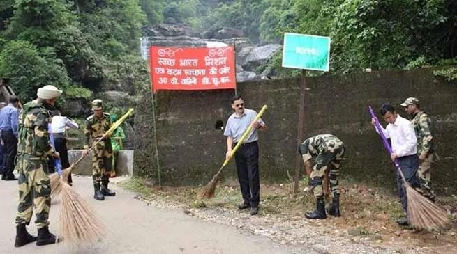 Meghalaya: BSF organises Swachh Bharat Abhiyan all over state