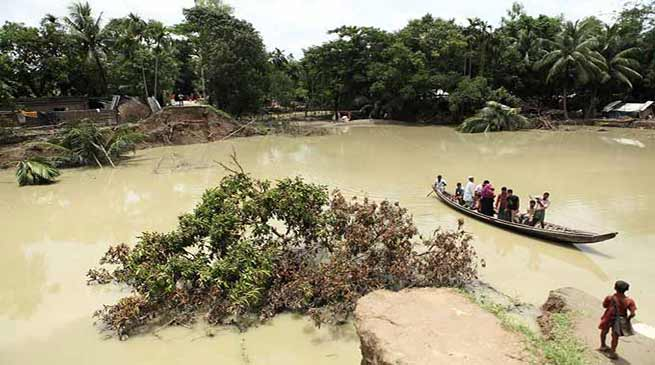 Assam: Flood waters recede in Hailakandi, people leave relief camps