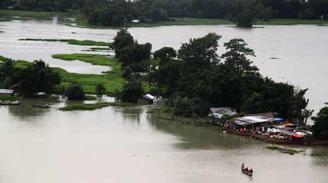 Assam: Flood situation improved considerably in Hailakandi