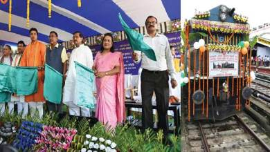 Agartala:  New Direct train from Agartala to Deoghar flagged off