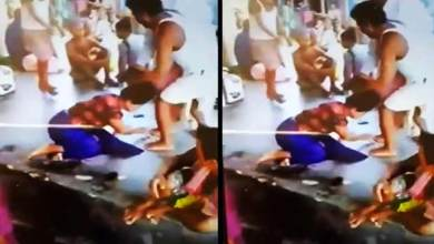 Tripura- woman beaten up in broad day light