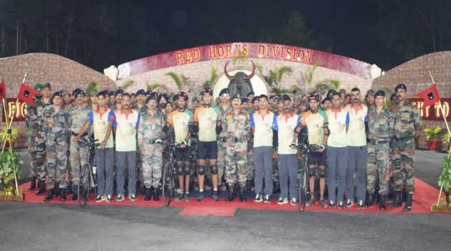 Indian Army Cycling towards Guiness world record