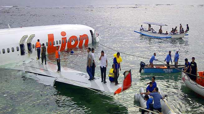 Lion Air plane crashes in sea in Indonesia