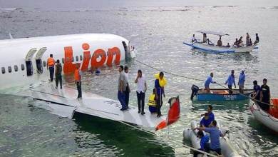 Photo of Lion Air plane crashes in sea in Indonesia