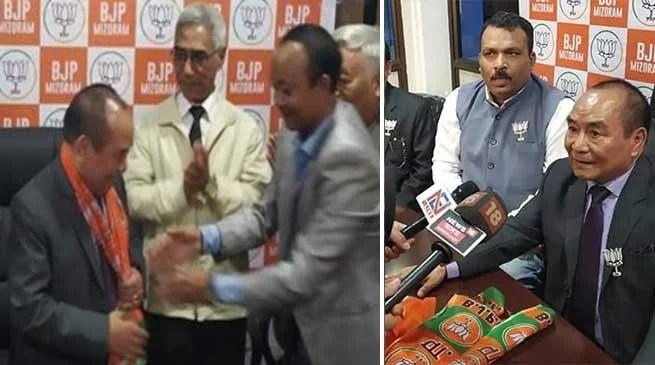 Mizoram Speaker Hiphei Resigns from Congress, Joins BJP