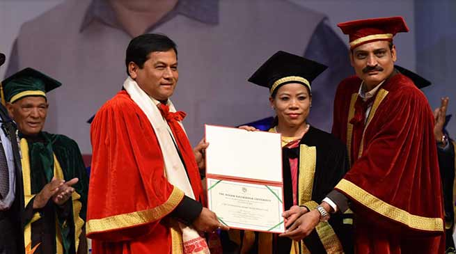 Assam: Mary Kom, Jadav Payeng Receive Honorary Doctorate From KU