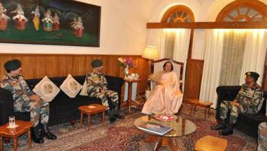 Manipur: Eastern Army Commander calls on the Governor and chief minister