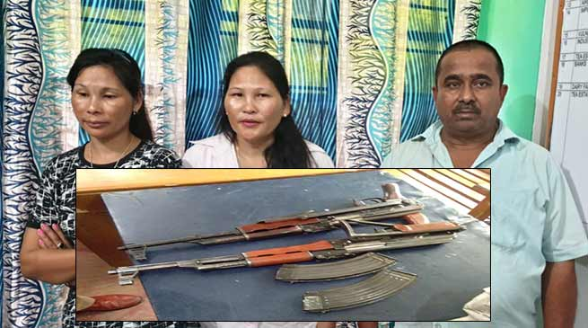 Assam:3 including 2 women arrested with AK-56 Rifle