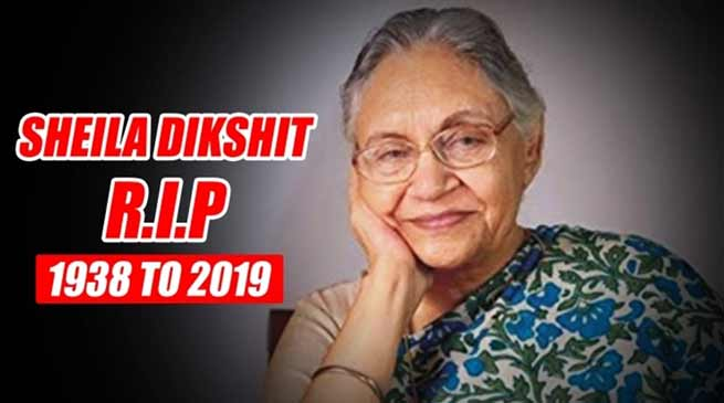 Congress leader and Former Delhi CM Sheila Dikshit passes away