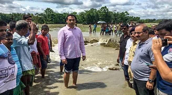Assam: Flood scene improving in Bongaigaon