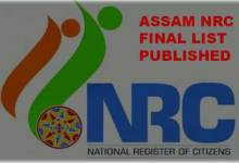 Assam NRC Final Draft- 2019-  LIVE UPDATE