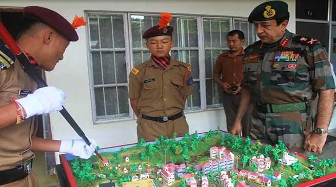Nagaland: GOC Spear Corps Visits Sainik School, Punglwa