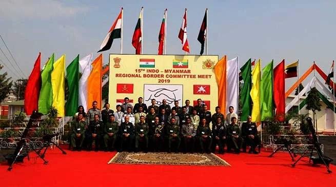 Manipur: Indo-Myanmar regional border committee meet held at Imphal