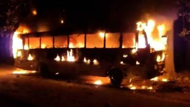 Assam: Miscreants torch BJP leader's bus in Morigaon