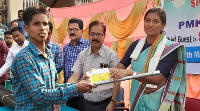 Assam: Sprinkler sets distributed to farmers under PMKSY in Hailakandi