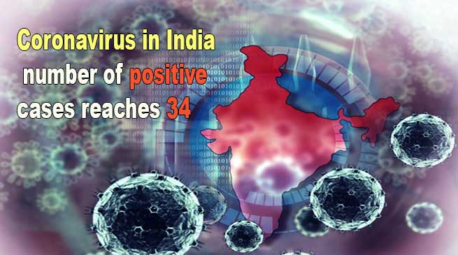 Coronavirus in India: number of positive cases reaches 34