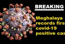 Photo of Coronavirus: Meghalaya records state's first covid-19 positive case