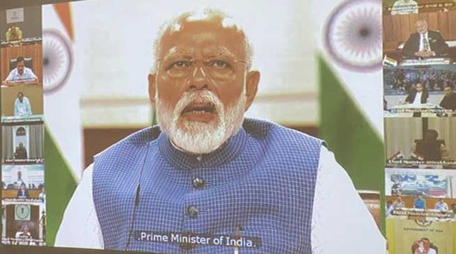 PM Modi interacts with CMs, discussed measures to combat COVID-19