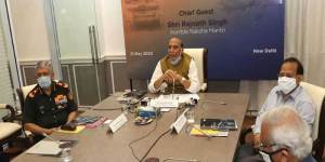 Rajnath Singh appreciates role of SIDM in Nation's fight against Coronavirus Pandemic