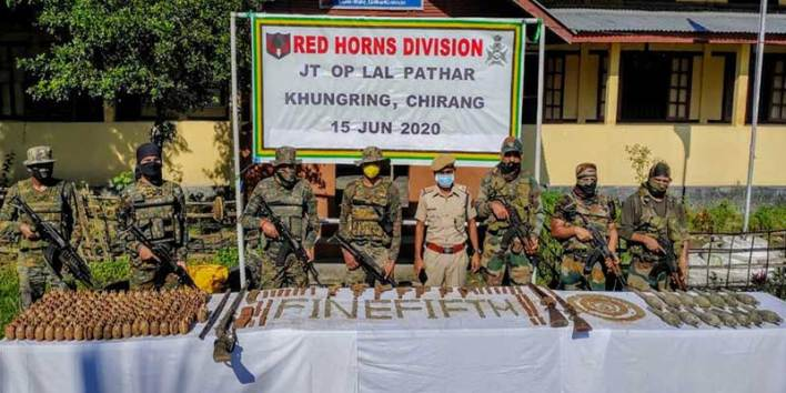 Assam: Huge arms and ammunitions from Chirang