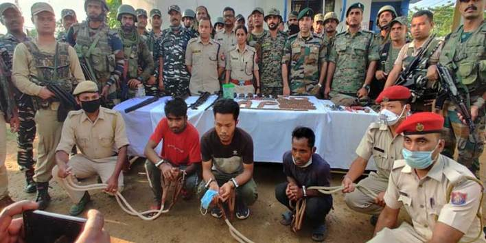 Assam: 3 arrested with huge Arms and ammunition for Habi Rongphar incident