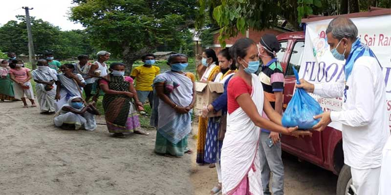 Assam Flood: SSSSO team reaches Barkola Village, distributed relief pakets to flood affected people