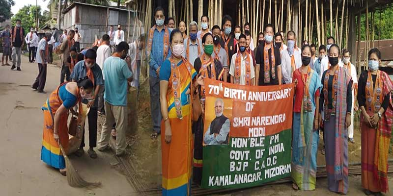 Mizoram: CADC BJP Unit kicks off Seva Sapath to mark PM Modi's 70th birthday.