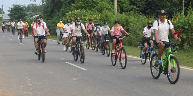 Assam: Ek Bharat Shreshtha Bharat Cycle Rally