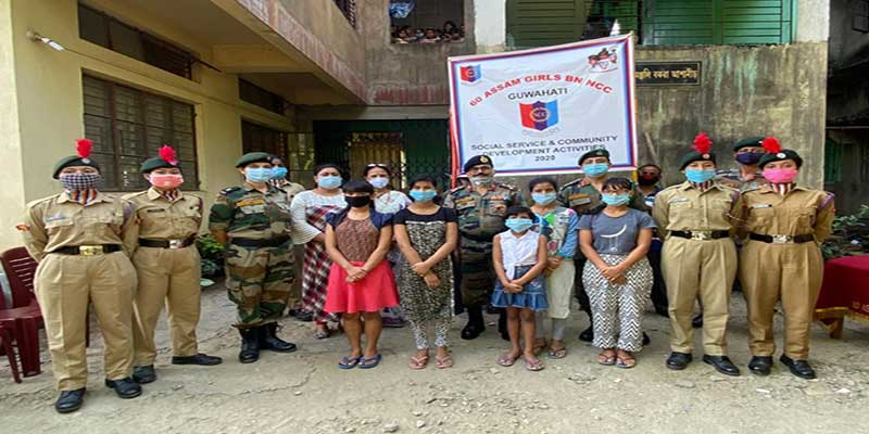 Assam: NCC steps forward to help orphanages in Guwahati