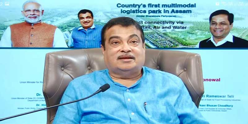 Assam: Nitin Gadkari lays Foundation Stone of country's first Multi-modal Logistic Park in Jogigopha