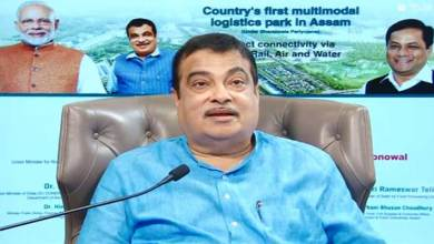 Photo of Assam: Nitin Gadkari lays Foundation Stone of country's first Multi-modal Logistic Park in Jogigopha
