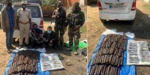 Assam: Security forces arrested two smuggler with huge cache of explosives on NH 37